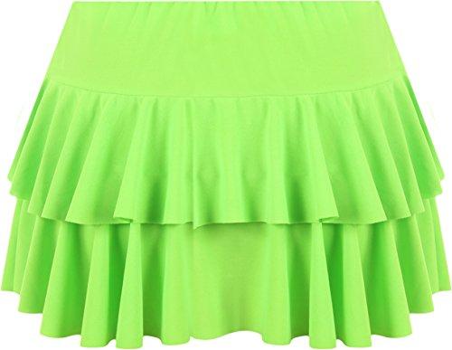 Vert Fluorescent Femmes 36 ruche WearAll Jupes 42 Mini Tailles jupe xqTg8v