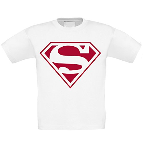 Urban Shaolin Boys Superman Retro Logo Inspired T shirt, 9-11 Years Old, White (Comic Retro Old Shirt)