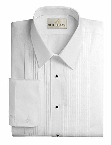 Neil Allyn Men's Tuxedo Shirt Poly/Cotton Wing Collar 1/4 Inch Pleat