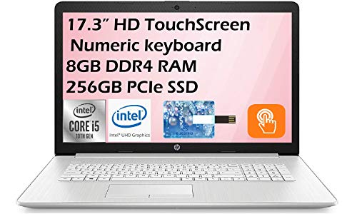 2021 HP Flagship 17.3″ HD+ WLED-Backlit Touchscreen Display Backlit KB Laptop with DVD Laptop , AMD ryzen 5 4500u , 8GB DDR4 RAM, 256GB SSD, Windows 10 Home with E.S Holiday32GB USB Card
