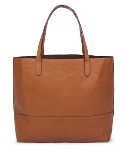 Overbrooke Large Vegan Leather Tote - Womens Slouchy Shoulder, Tan, Size ()