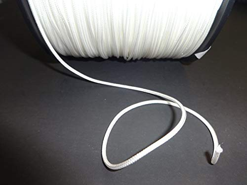25 YARDS : 2.0MM WHITE TRAVERSE CORD for Vertical Blinds & -