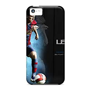 Protector Hard Cell-phone Cases For Iphone 5c (SBX6915UYmR) Allow Personal Design Realistic Messi Pictures
