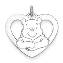 Gold and Watches Sterling Silver Disney Winnie the Pooh Heart Charm