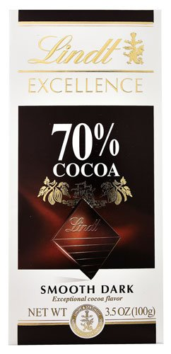 Excellence Cocoa - Lindt Excellence Chocolate Bar 70% Cocoa Smooth Dark -- 3.5 oz - 2 pc