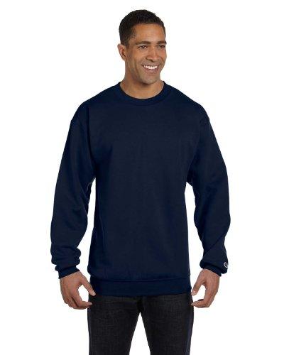 (Champion Adult 50/50 Crewneck Sweatshirt, Navy - Size Medium)