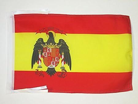 AZ FLAG Bandera de ESPAÑA 1977-1981 45x30cm - BANDERINA ESPAÑOLA con Aguila 30 x 45 cm cordeles: Amazon.es: Hogar