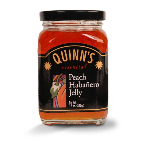 Orange Habanero (Gourmet Peach Habañero Jelly - Peaches, Orange Bell Peppers & Habañero Chilies - by Quinn's (Pack of 3))