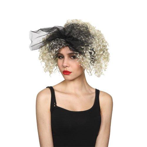 Girls Pop Star Wig - Womens 80's Material Girl Blonde Hair