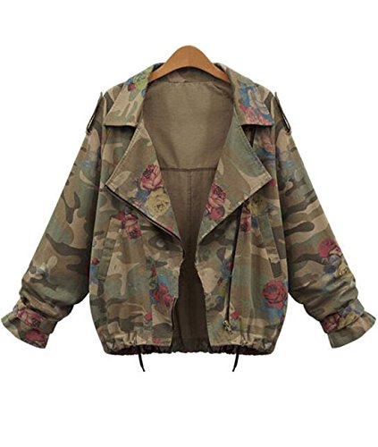 Tempt Womens Camouflage Sleeve Bomber
