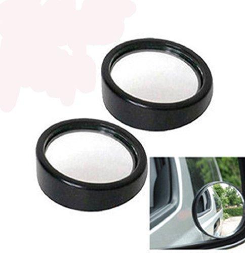 Bike Mirror, UMFun 2x Car Blind Spot Mirror Rearview 2 Side Wide Angle Round Convex Black - Diameter Blind Spot