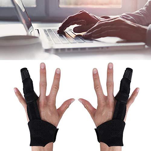 Fingerschiene, Fingerbandage Einstellbar Atmungsaktiv Handstütze Fingerknöchelbandage Fingerschutzwerkzeug, Lindert Finger Schmerzen