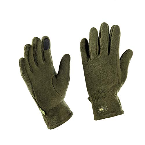 Winter Insulated Gloves - Tactical Fleece Gloves - Military Cold Weather Gloves (Olive, M)