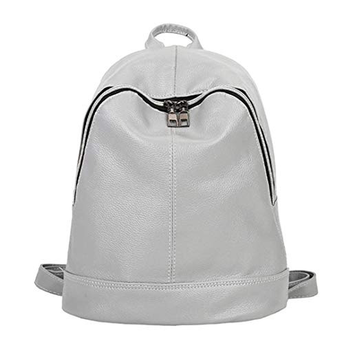 adolescente Gray PU Gensotrn grande capacité femmes filles occasionnels sacs bandoulière sac dos cuir en solides xYddwqr6