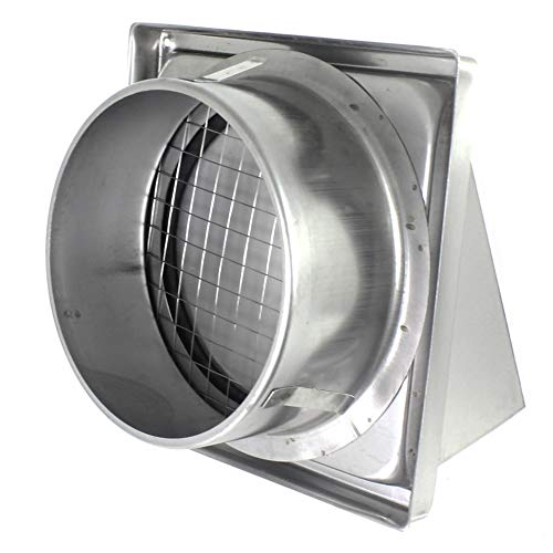 Backdraft Shutter KO150-30 6 Outlet Cowl Air Vent Grille with Non Return Valve Ducting Cowled Gravity Flap 150mm