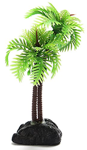 Coco*Store Fish Tank Plastic Coconut Tree Plants Aquarium Ornament Decoration (Store Decorations)