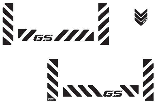 "The Pixel Hut gs00010b BMW GS Adventure Motorcycle Reflective Decal Kit ""GS Chevron"" for Touratech Panniers - Black"