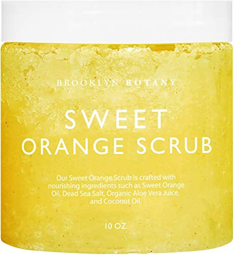 Brooklyn Botany 100% Natural Sweet Orange Body Scrub & Hand Scrub – Dual Action Exfoliator, Moisturizer For Great Skin…