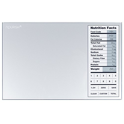 Greater Goods Nourish Digital Kitchen Food Scale and Portions Nutritional Facts - Tracking American Mail