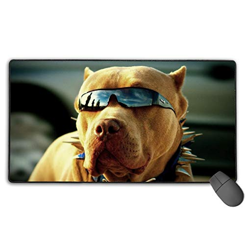 (GGlooking Mousemat Fashionable Puppy Mouse Pad Gaming Mat Computer Mousepad Large Non-Slip Keyboard Desk Accessories,Office & School Supplies)
