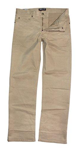 Kirkland Signature Mens Standard Fit 5-Pocket Pants, British Khaki, 34 x 30