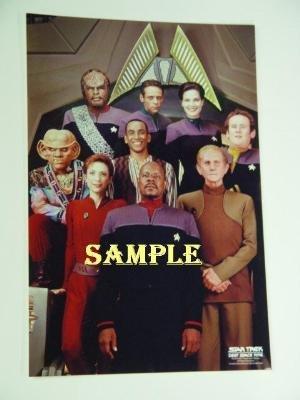 Star Trek DS9 Full Cast In Ops Station Sisko Worf Odo Kira 10 x 15 Poster Photo from Star Trek