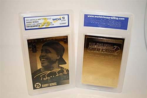 Barry Bonds 2003 Signature Series Limited Edition WCG 23KT GOLD ()