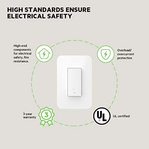 Wemo Wi-Fi Light Switch 3-Way 2-Pack Bundle – Control Lighting from Anywhere, Easy In-Wall Installation, Works with Alexa, Google Assistant and Apple HomeKit (WLS0403-BDL) 41u6lUEh0ML