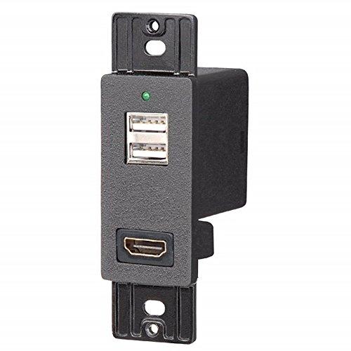 - Magnadyne 2 USB Charging Outlet 12V HDMI Pass Through Port Black MAGANDYNE WC-USBHD-B