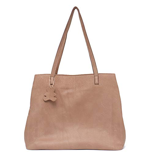 Handbag Skin Leather Cow - STEPHIECATH Women Tote-handbags Italian Cow Leather Women's Vintage Style Soft Leather Work Tote Shoulder Bag Large Capacity Multi Sections Pockets Real Leather Skin Bag(NATURAL)