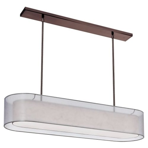 (Dainolite Lighting MEL448-814-720-OBB 4 Light Pendant with Double Shade Silver and Cream with 720)