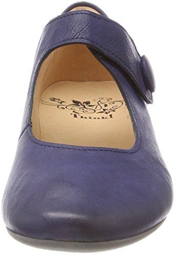 Denken! Dames Guad_282280 Riemchenballerinas Blauw (capri 89)