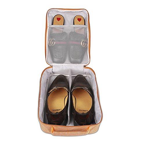 BUBM Schuh Travel Organizer / Schuh Cube-Portable Wasserdichte Schuhtaschen für Outdoor, Workout, Tanzen, Gym - (Mittel, Orange)