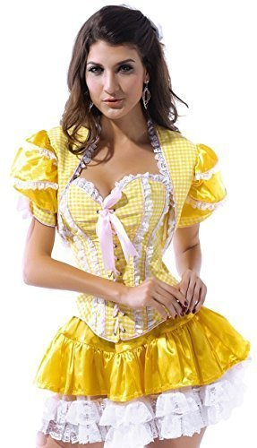 Ladies Sexy Goldilocks Fairy Tale Corset Halloween Fancy Dress Costume Outfit (UK 6) for $<!--$46.32-->