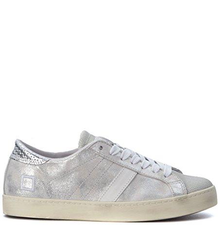 D.a.t.e. Women's Sneaker D.a.t.e. Hill Low Stardust In Pelle Laminata Argento 38(IT)-8(US) Silver