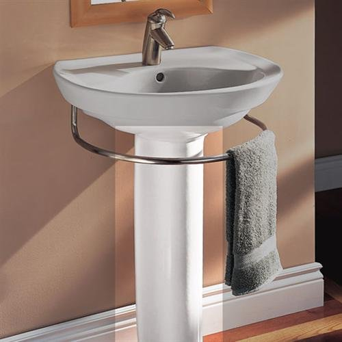 (Ravenna lavatory pedestal only Basin and faucet not included Contemporary design)