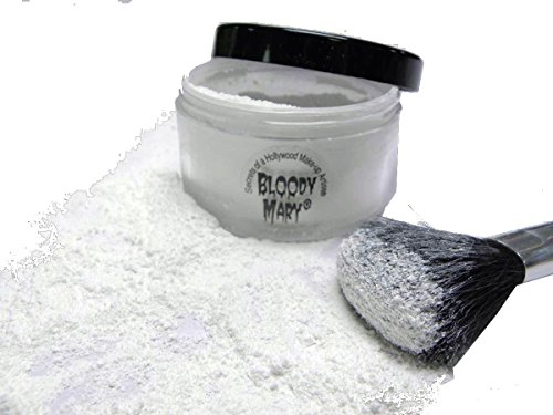 Bloody Mary Makeup Loose Setting Powder, White