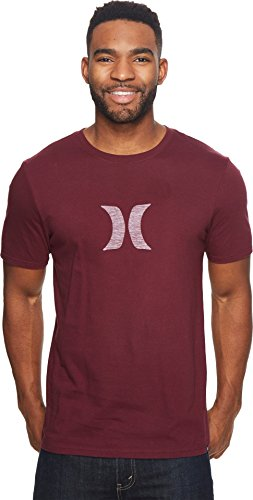 Hurley MTS0023530 Men's Icon Push Through T-Shirt, Night Maroon - L Hurley Icon