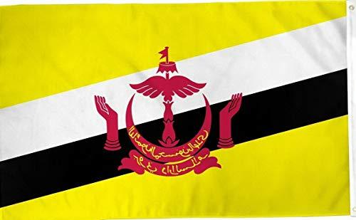 - Mikash 3x5 Brunei Flag 3x5 Banner Brass Grommets | Model FLG - 2911