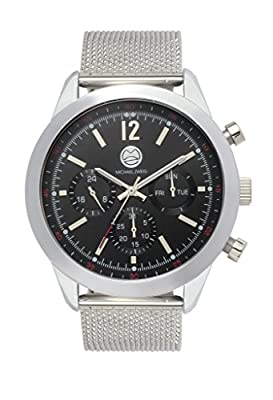 "Michael Zweig ""Royal Regatta 10 ATM"" Watch, Stainless Steel Mesh Band"