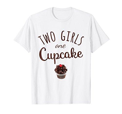 Two Girls One Cupcake Funny Baking Tee Shirt