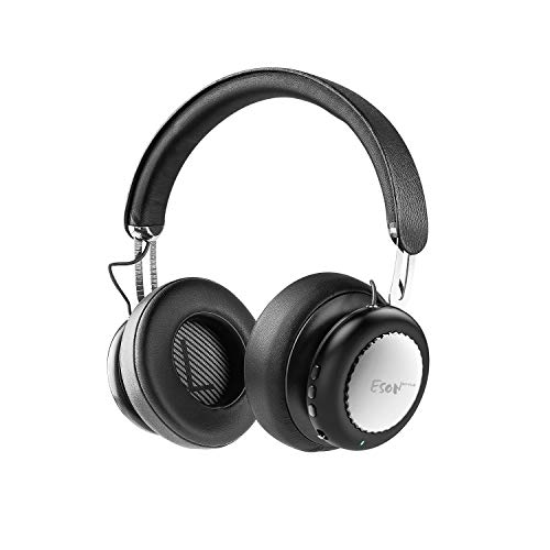 Esonstyle S9 Active Noise Cancelling Headphone Bluetooth Headphones with Mirophone Deep Bass Headset Comfortable Earpads for Travel Work TV Silver