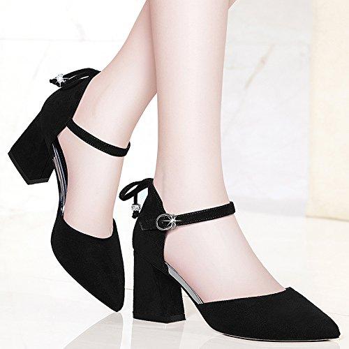 tipped Pour Sandales Femmes Les Shoeshaoge High Avec De Eu37 Flat Chaussures heeled Épais Enfants HWXn6Tz46