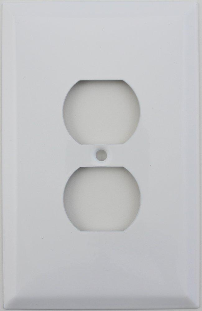 Over SizedジャンボSmoothホワイトOne Gangデュプレックスコンセント壁プレート B00D3OTGB4