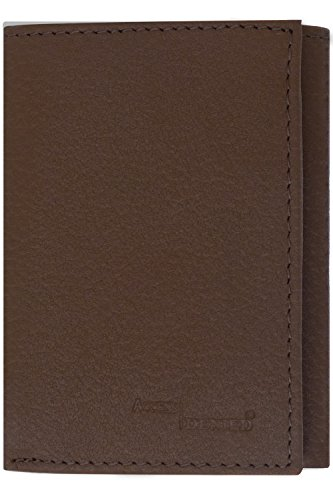 Tan Tri Fold (Genuine Leather Wallet Mens Trifold RFID Blocking, Light Brown Pebble)