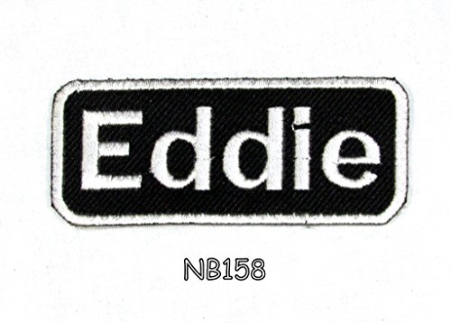 Eddie Iron on Name Badge Patch for Motorcycle Biker Jacket and Vest NB158