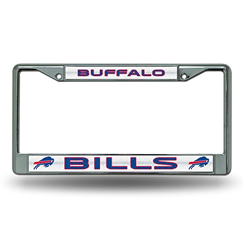 NFL Buffalo Bills Bling Chrome License Plate Frame with Glitter Accent