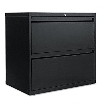 Alera LA523029BL 30 by 19-1-4 by 29-Inch 2-Drawer Lateral File Cabinet - Black