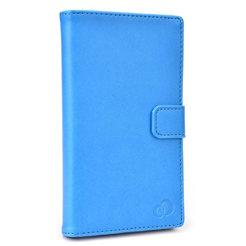 BABY BLUE  PU LEATHER UNIVERSAL PHONE HOLDER WITH STAND  FITS Consumer Cellular Huawei Vision Android Smartphone