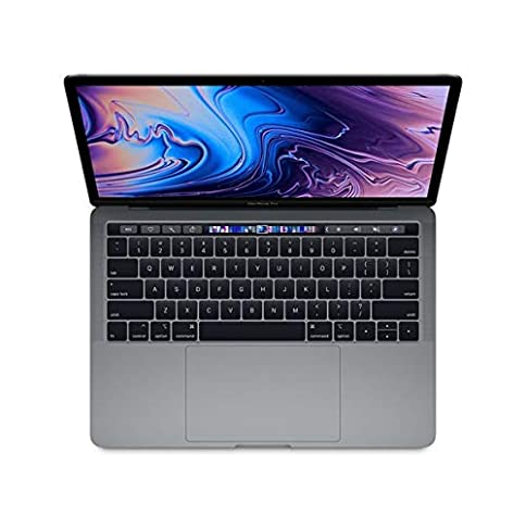 - 41u6qAnZZlL - Apple 13.3″ MacBook Pro w/ Touch Bar (Mid 2018), 227ppi Retina Display, Intel Core i5-8259U Quad-Core, 512GB PCI-E Solid State Drive, 8GB DDR3, 802.11ac, Bluetooth, macOS 10.13, Space Gray (Renewed)
